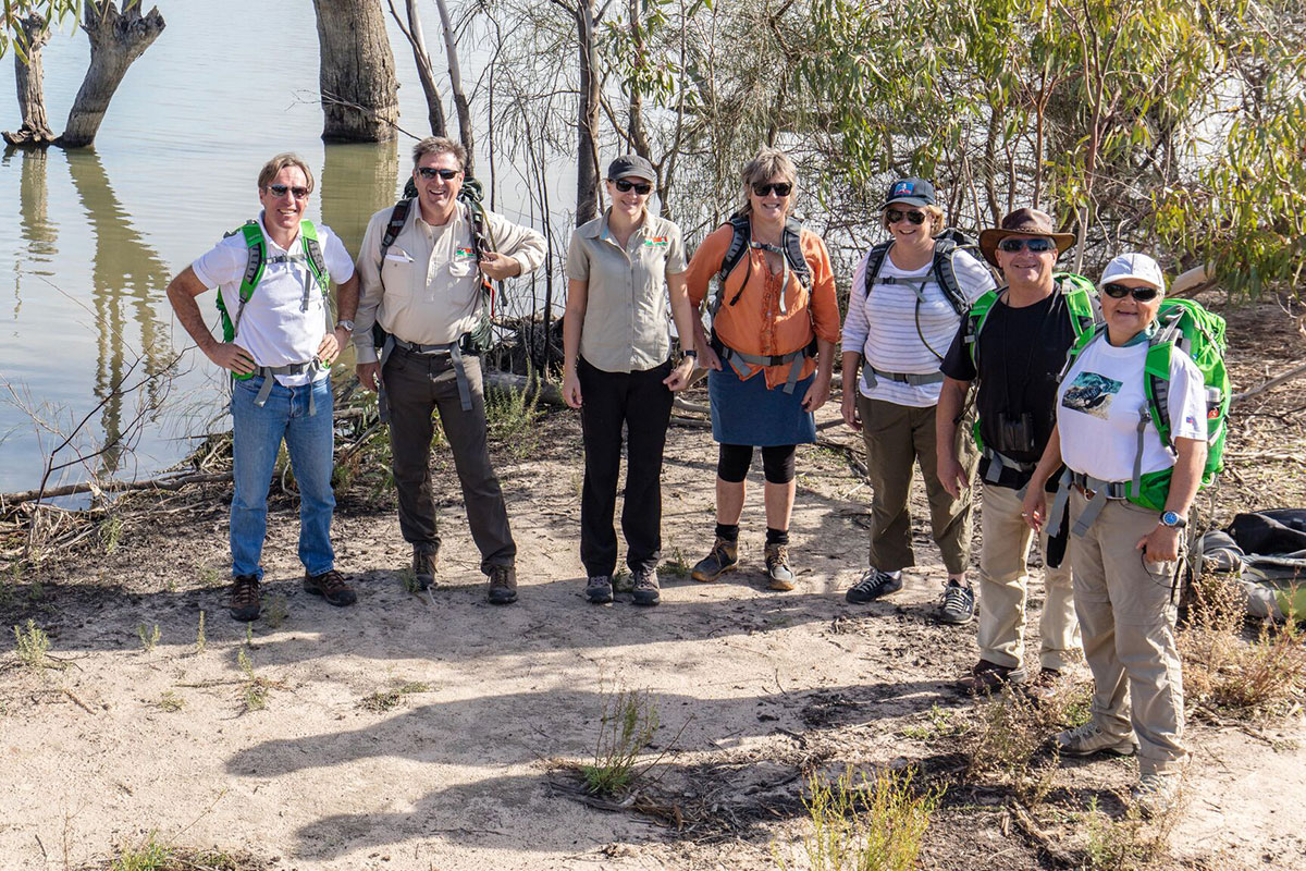 Walk through woodlands to the Ral Ral Widewaters with Great Walks of Australia in South Australia.