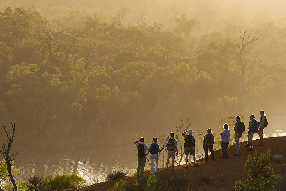 Enjoy the sunrise over the Murray River Valley at Headings Cliff in South Australia.
