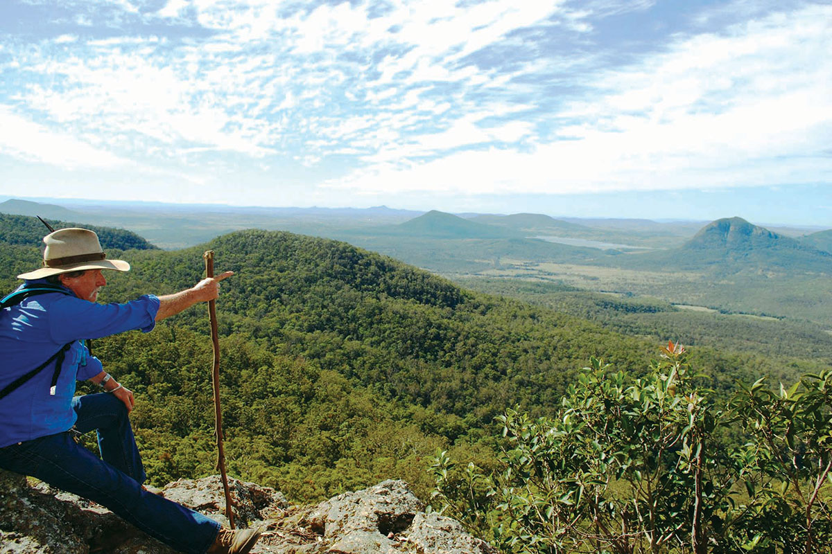 Enjoy a guided walking experience with Great Walks of Australia on the Scenic Rim Trail in Queensland.