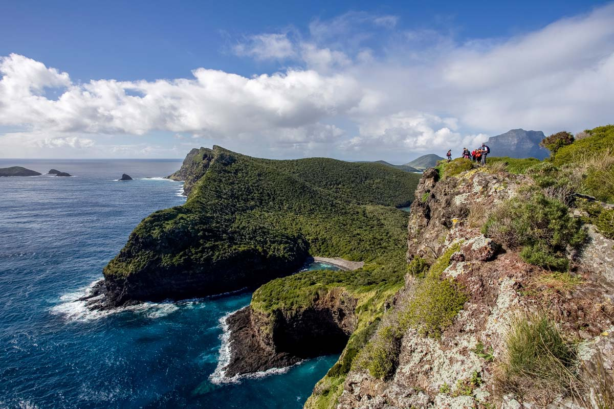Hike along the ridgeline on the Seven Peaks Walk on Lord Howe Island with Great Walks of Australia.