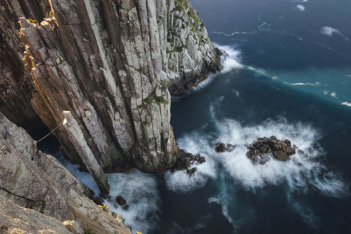 Walk to the cliff edge on the Three Capes Lodge Walk with Great Walks of Australia.