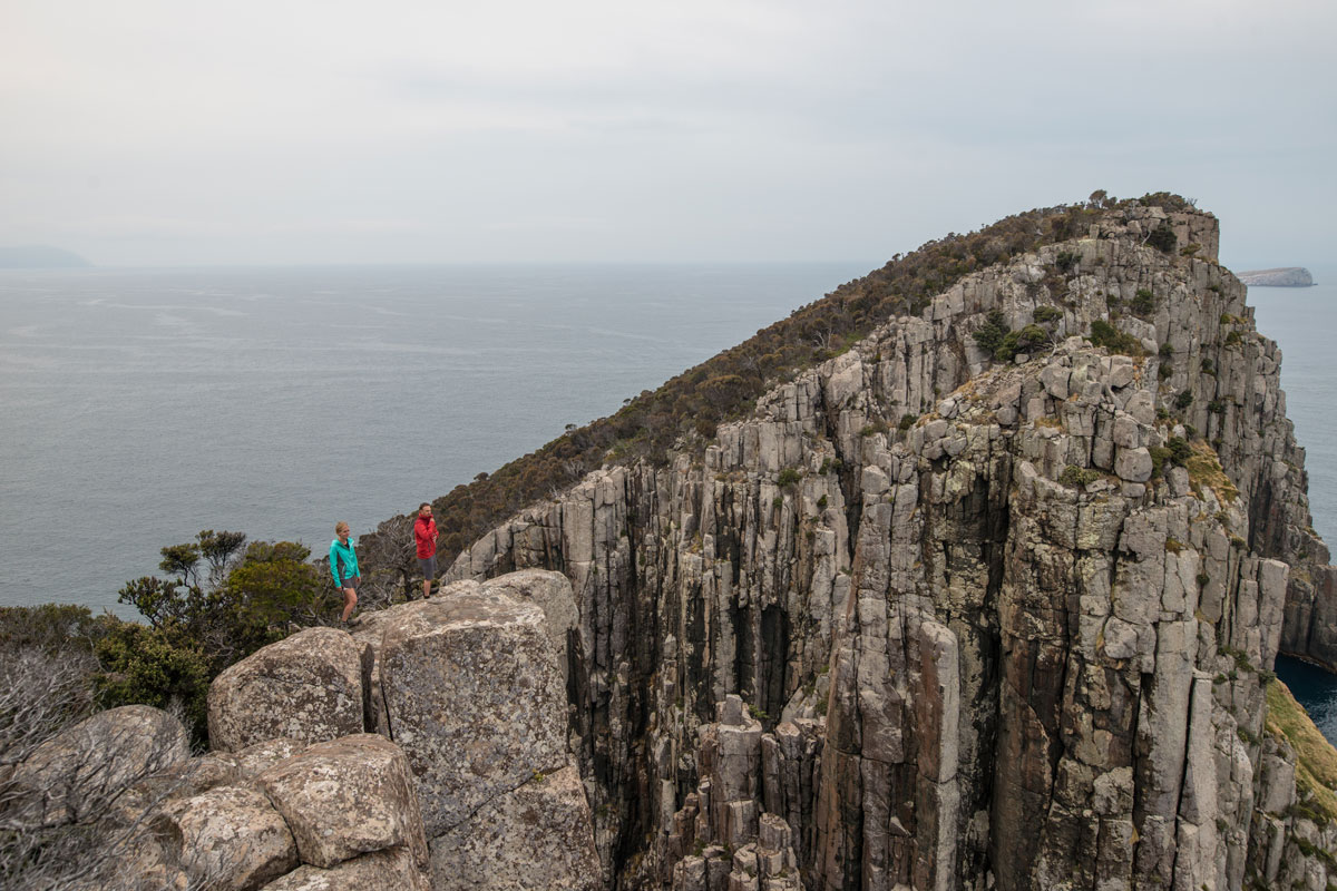 Hike to the clifftop for stunning views of the Tasmanian coastline on the Three Capes Lodge Walk.